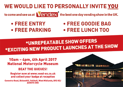 Vendex - 4th April 2017 - Birmingham - Billi UK - Invitation