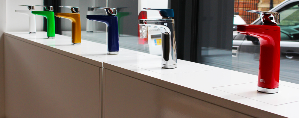 new colour and finish range of Billi taps